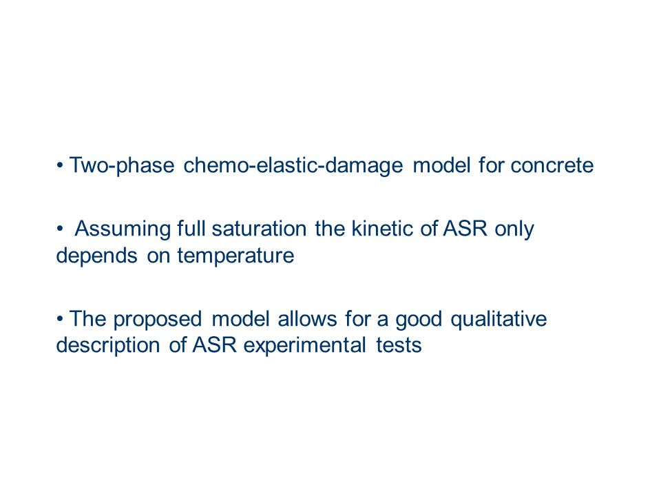 Two-phase chemo-elastic-damage model for concrete