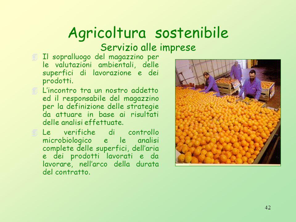 Agricoltura sostenibile Servizio alle imprese
