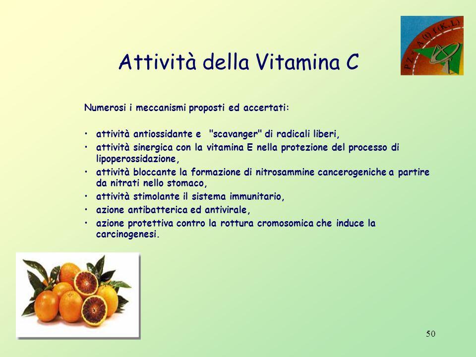 Attività della Vitamina C