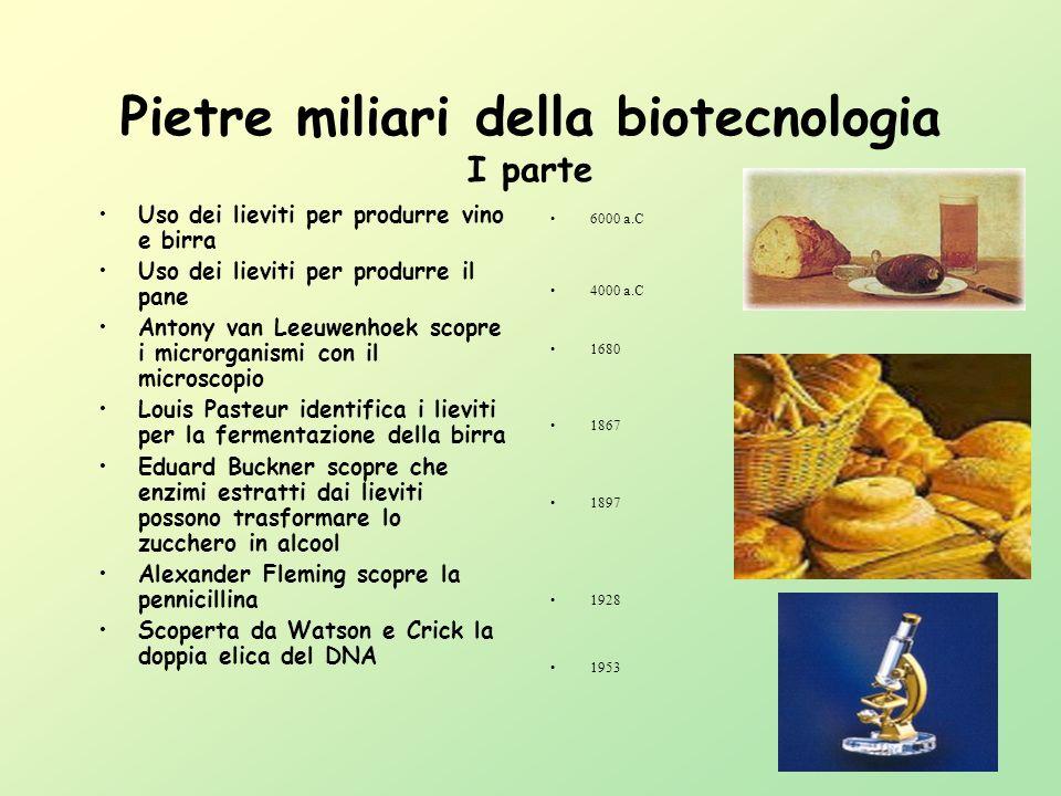 Pietre miliari della biotecnologia I parte