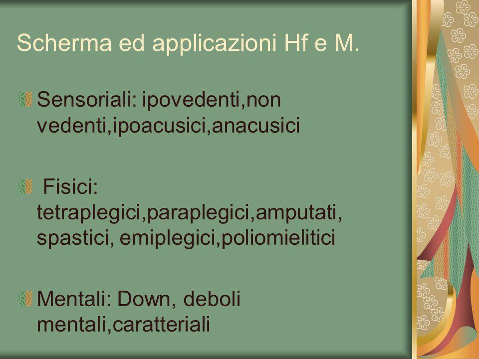 Scherma ed applicazioni Hf e M.