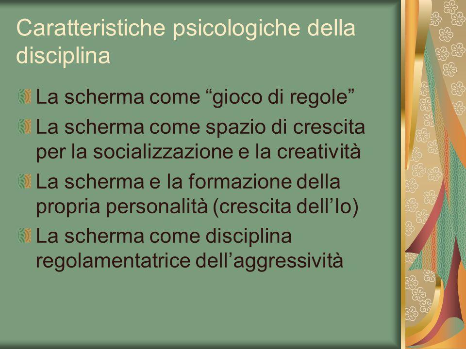 Caratteristiche psicologiche della disciplina