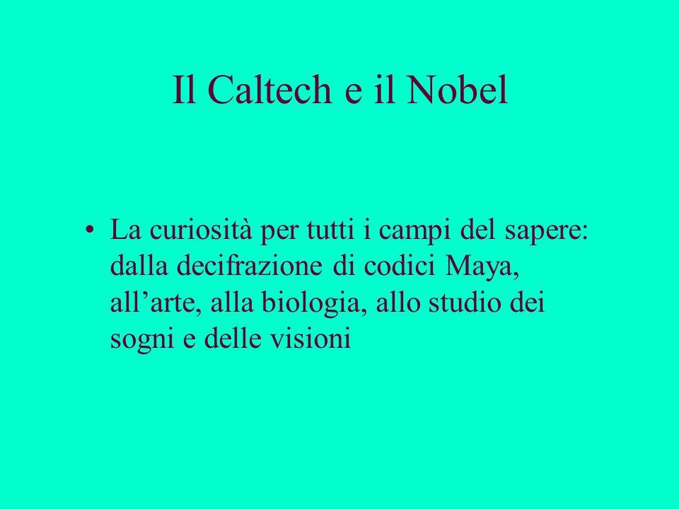 Il Caltech e il Nobel