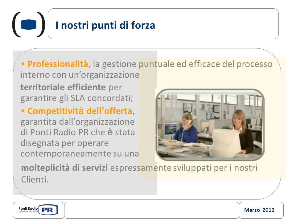 I nostri punti di forza Professionalità, la gestione puntuale ed efficace del processo interno con un'organizzazione.
