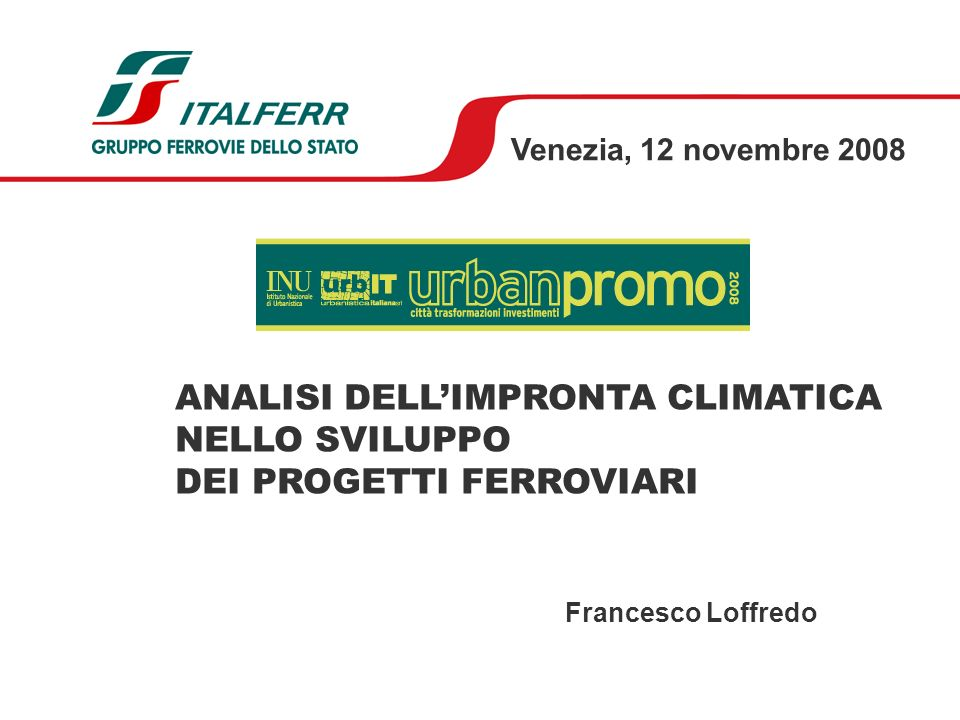 ANALISI DELL'IMPRONTA CLIMATICA NELLO SVILUPPO DEI PROGETTI FERROVIARI