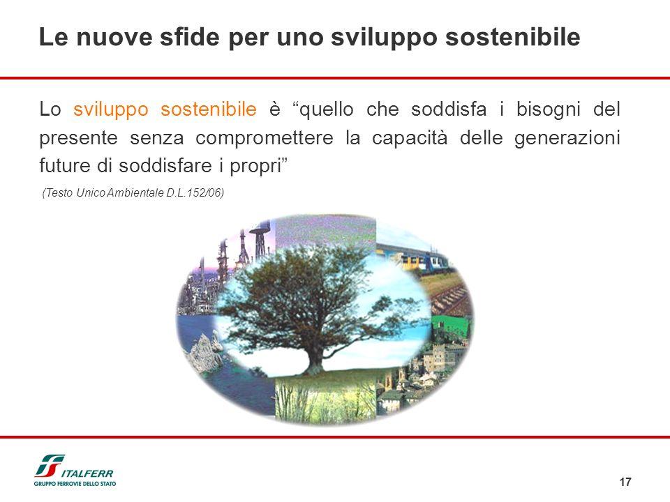 Le nuove sfide per uno sviluppo sostenibile