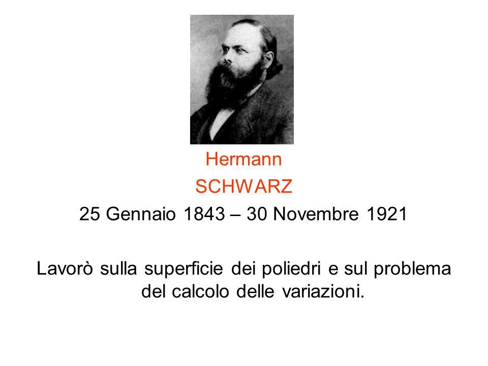 Hermann SCHWARZ. 25 Gennaio 1843 – 30 Novembre 1921.