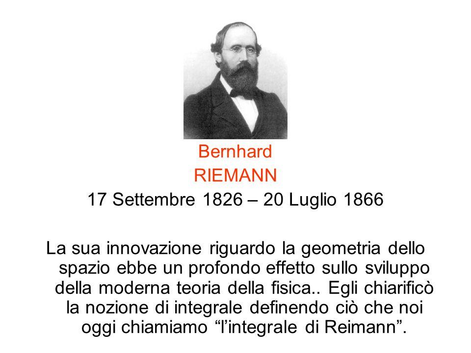 Bernhard RIEMANN. 17 Settembre 1826 – 20 Luglio 1866.