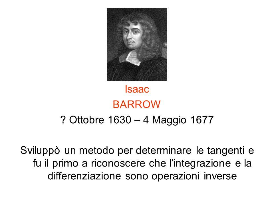 Isaac BARROW. Ottobre 1630 – 4 Maggio 1677.