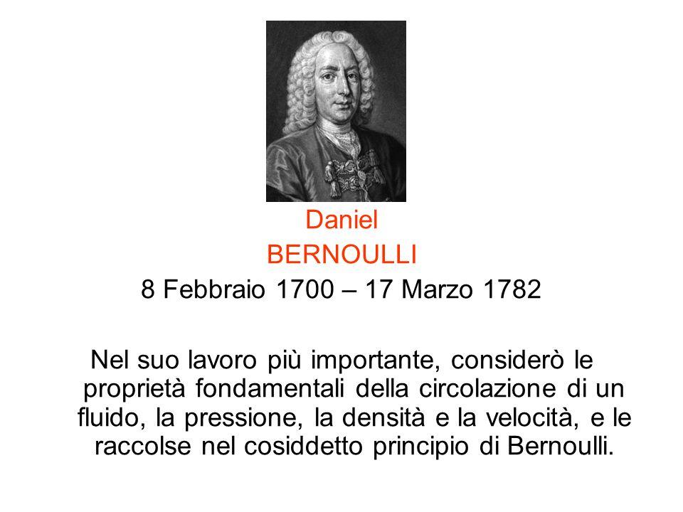 Daniel BERNOULLI. 8 Febbraio 1700 – 17 Marzo 1782.