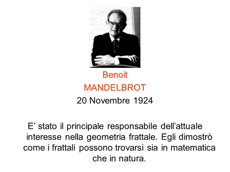Benoit MANDELBROT. 20 Novembre 1924.