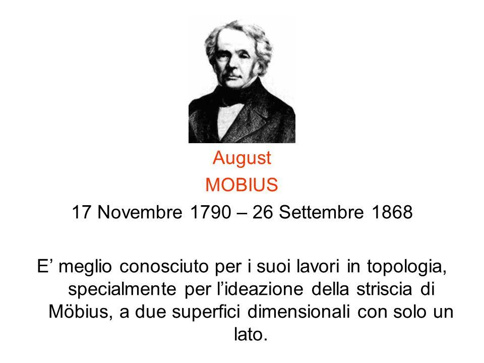 August MOBIUS. 17 Novembre 1790 – 26 Settembre 1868.