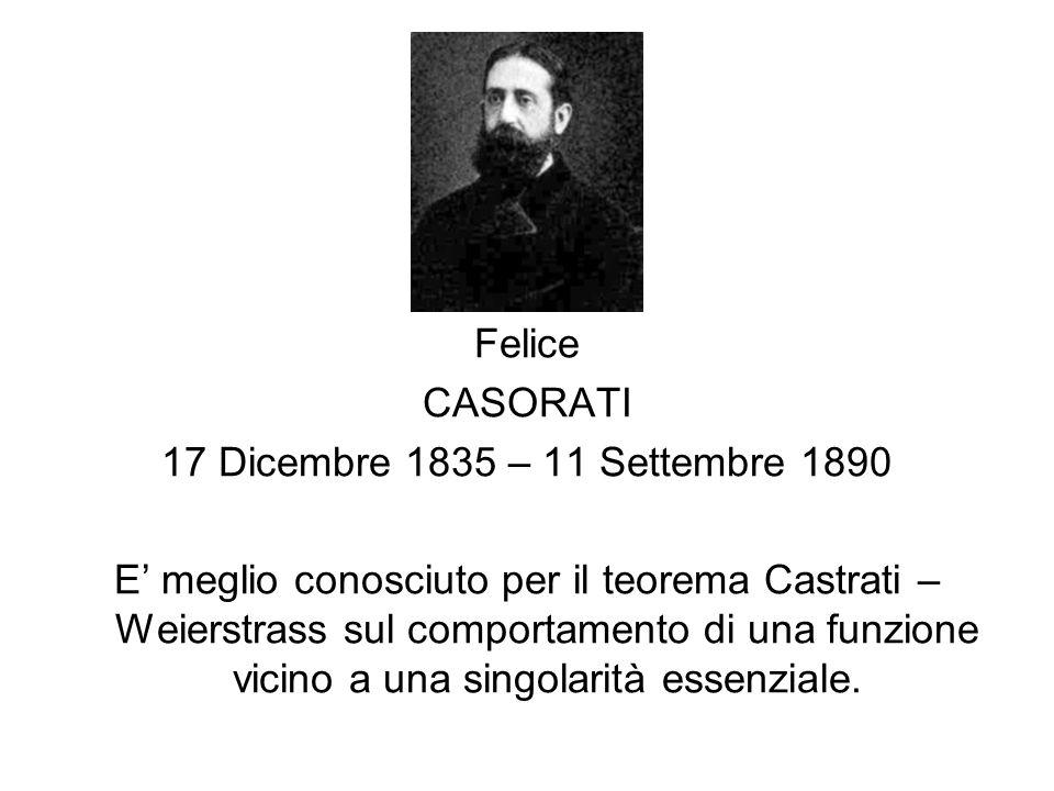 Felice CASORATI. 17 Dicembre 1835 – 11 Settembre 1890.