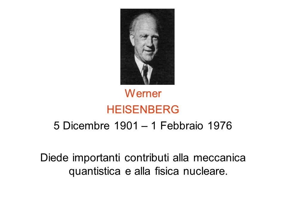 Werner HEISENBERG. 5 Dicembre 1901 – 1 Febbraio 1976.