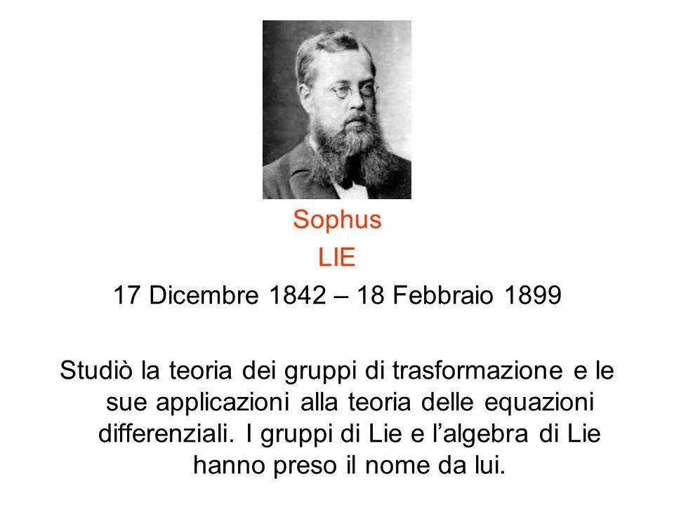 Sophus LIE. 17 Dicembre 1842 – 18 Febbraio 1899.