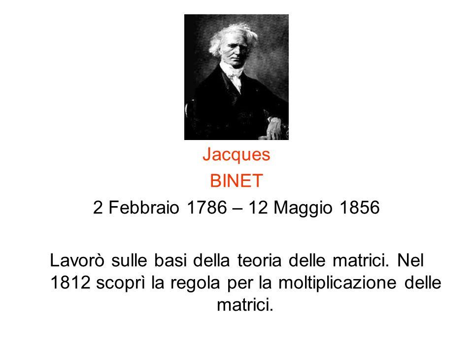 Jacques BINET. 2 Febbraio 1786 – 12 Maggio 1856.