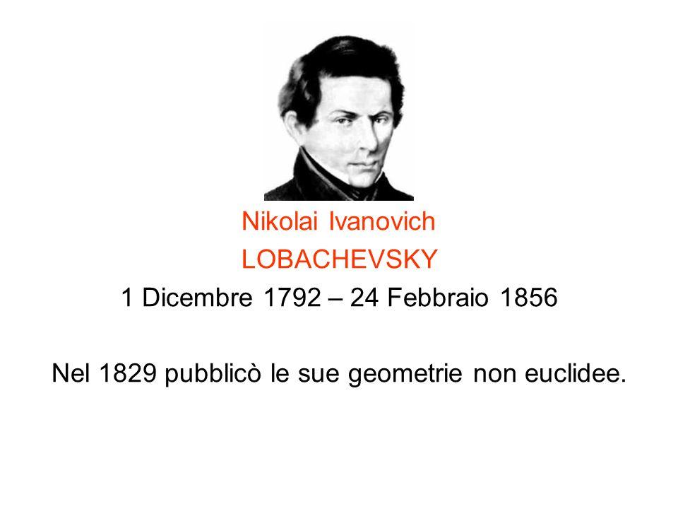 Nel 1829 pubblicò le sue geometrie non euclidee.