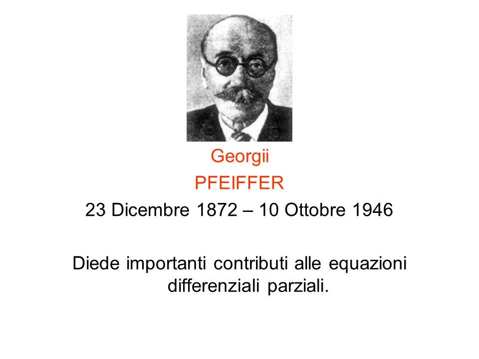 Diede importanti contributi alle equazioni differenziali parziali.