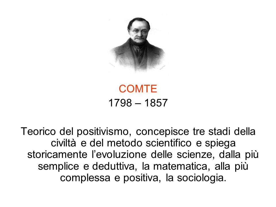 COMTE 1798 – 1857.