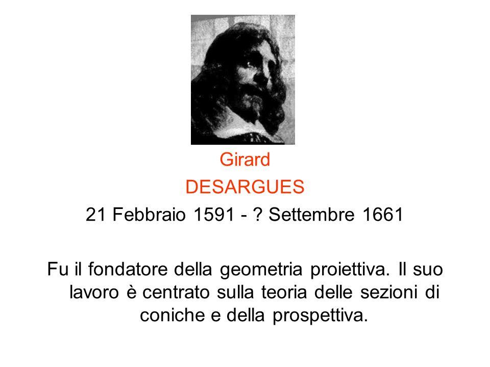 Girard DESARGUES. 21 Febbraio 1591 - Settembre 1661.