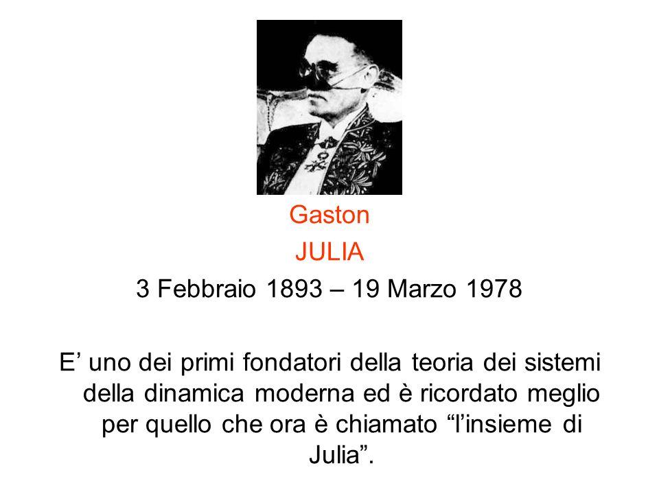 Gaston JULIA. 3 Febbraio 1893 – 19 Marzo 1978.
