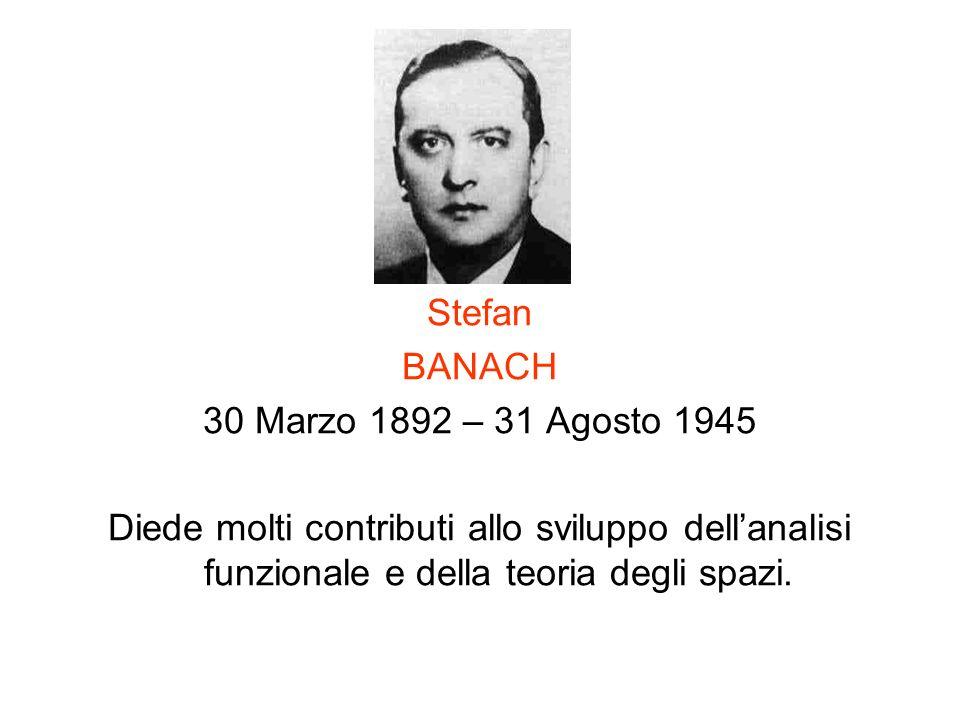 Stefan BANACH. 30 Marzo 1892 – 31 Agosto 1945.