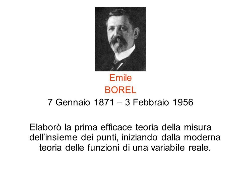 Emile BOREL. 7 Gennaio 1871 – 3 Febbraio 1956.