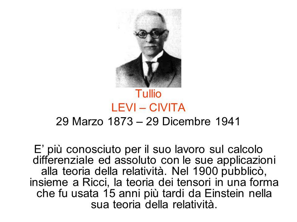 Tullio LEVI – CIVITA. 29 Marzo 1873 – 29 Dicembre 1941.