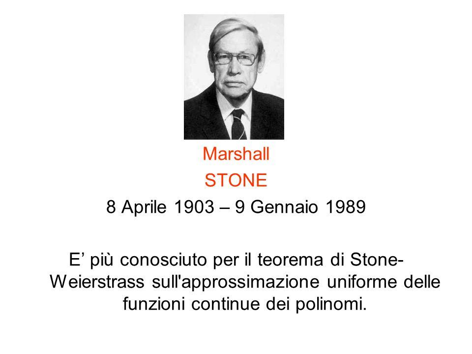 Marshall STONE. 8 Aprile 1903 – 9 Gennaio 1989.
