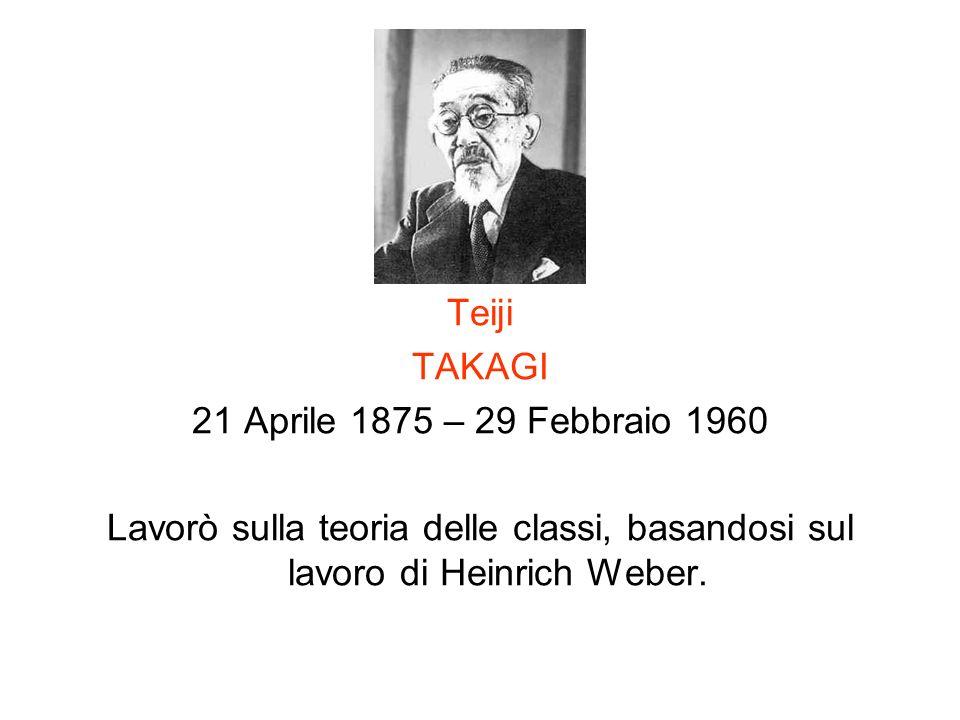 Teiji TAKAGI. 21 Aprile 1875 – 29 Febbraio 1960.