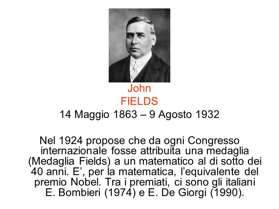 John FIELDS. 14 Maggio 1863 – 9 Agosto 1932.