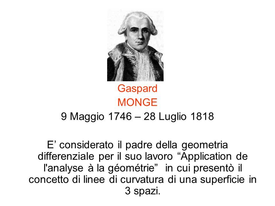Gaspard MONGE. 9 Maggio 1746 – 28 Luglio 1818.