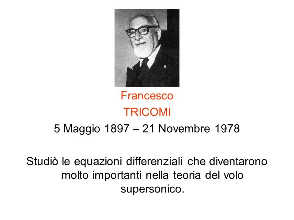 Francesco TRICOMI. 5 Maggio 1897 – 21 Novembre 1978.