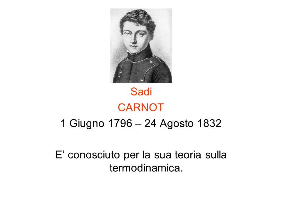 E' conosciuto per la sua teoria sulla termodinamica.
