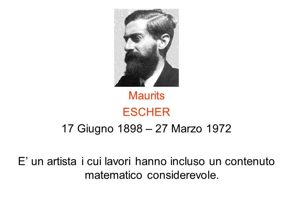 Maurits ESCHER. 17 Giugno 1898 – 27 Marzo 1972.
