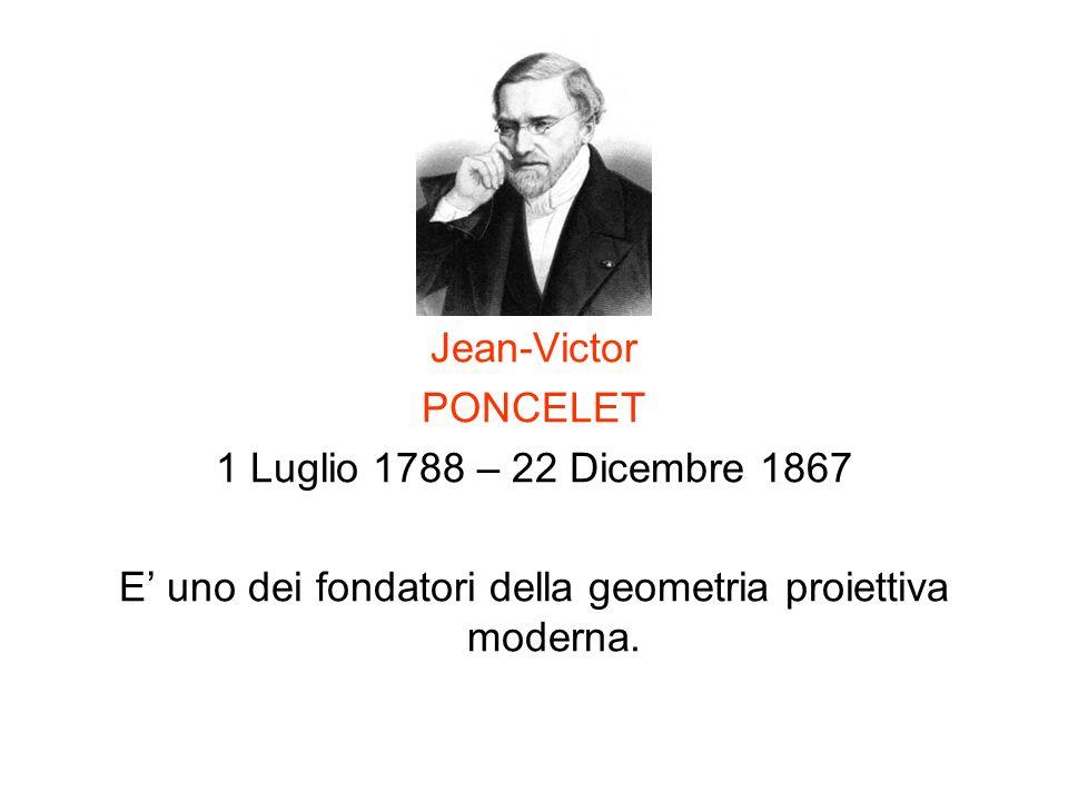 E' uno dei fondatori della geometria proiettiva moderna.