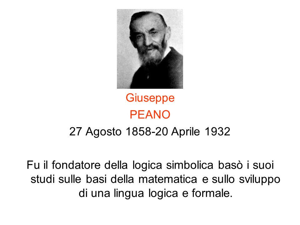 Giuseppe PEANO. 27 Agosto 1858-20 Aprile 1932.