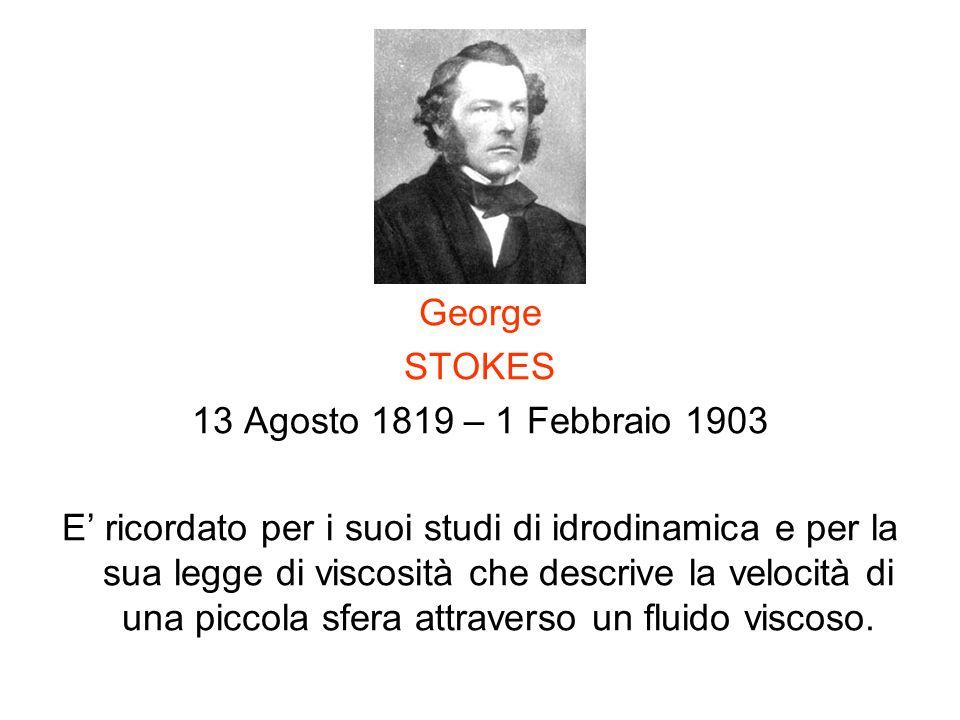 George STOKES. 13 Agosto 1819 – 1 Febbraio 1903.