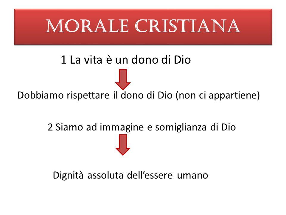 MORALE CRISTIANA 1 La vita è un dono di Dio