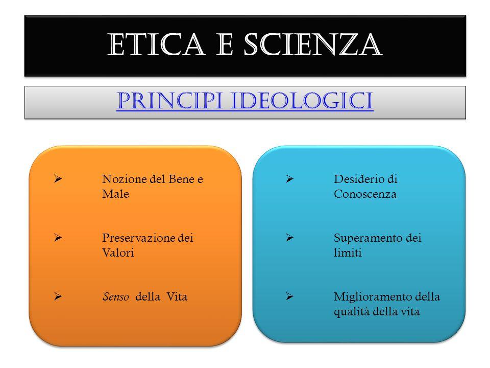ETICA E SCIENZA PRINCIPI IDEOLOGICI Nozione del Bene e Male