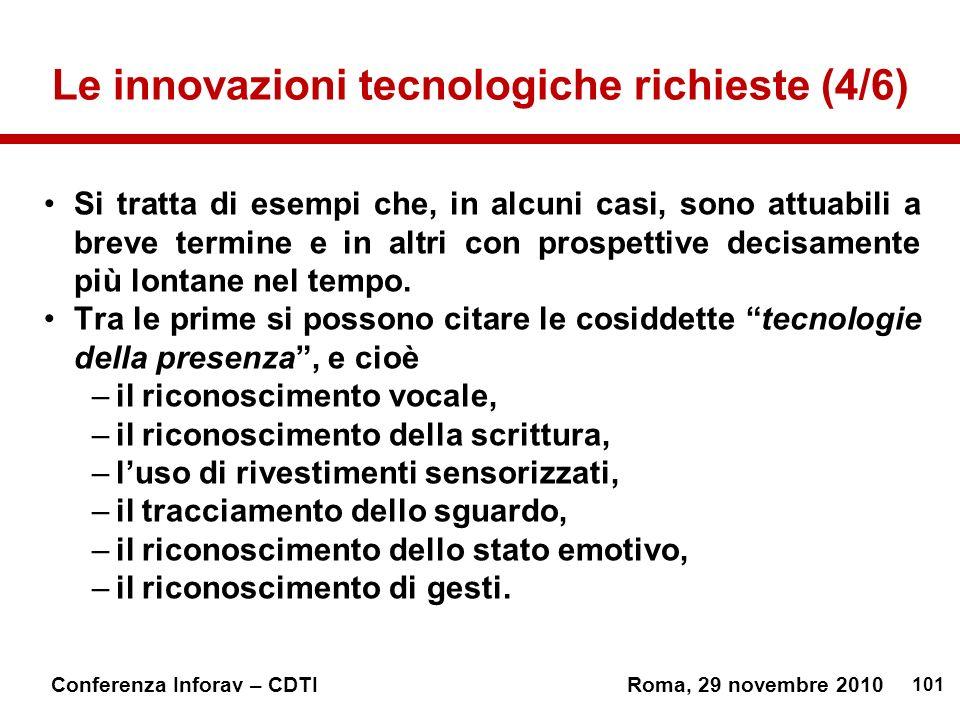 Le innovazioni tecnologiche richieste (4/6)