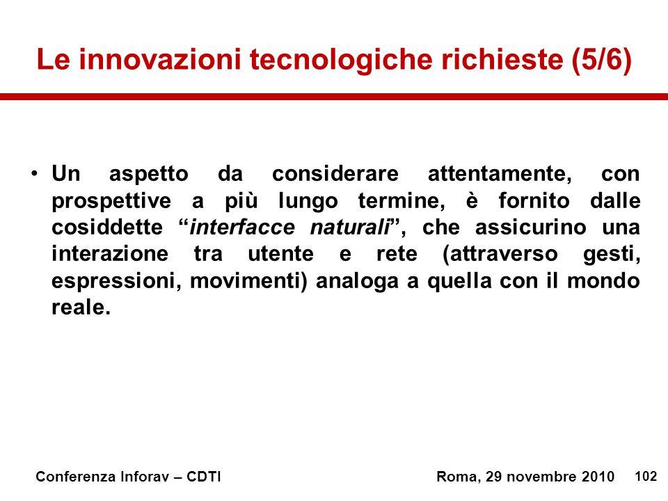 Le innovazioni tecnologiche richieste (5/6)