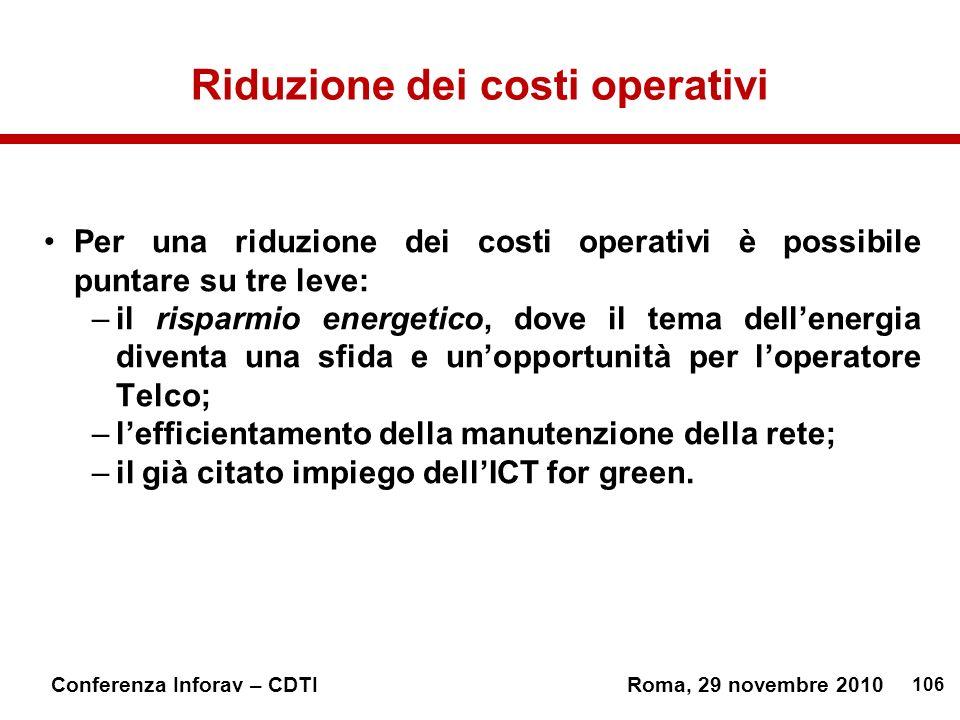 Riduzione dei costi operativi