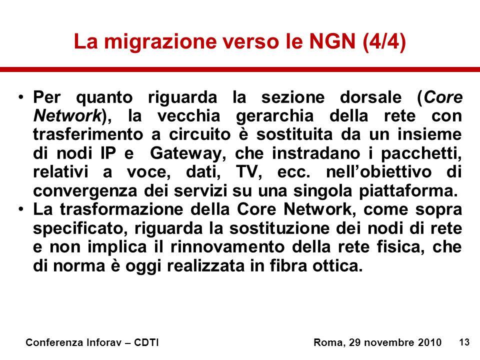 La migrazione verso le NGN (4/4)