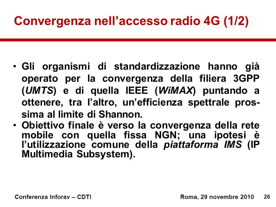 Convergenza nell'accesso radio 4G (1/2)
