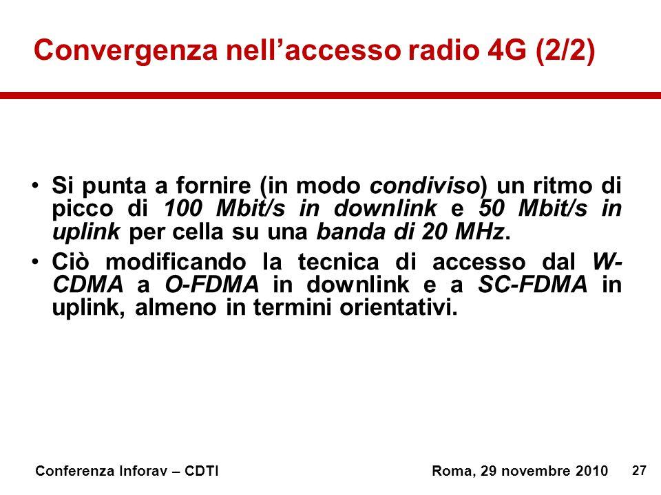 Convergenza nell'accesso radio 4G (2/2)