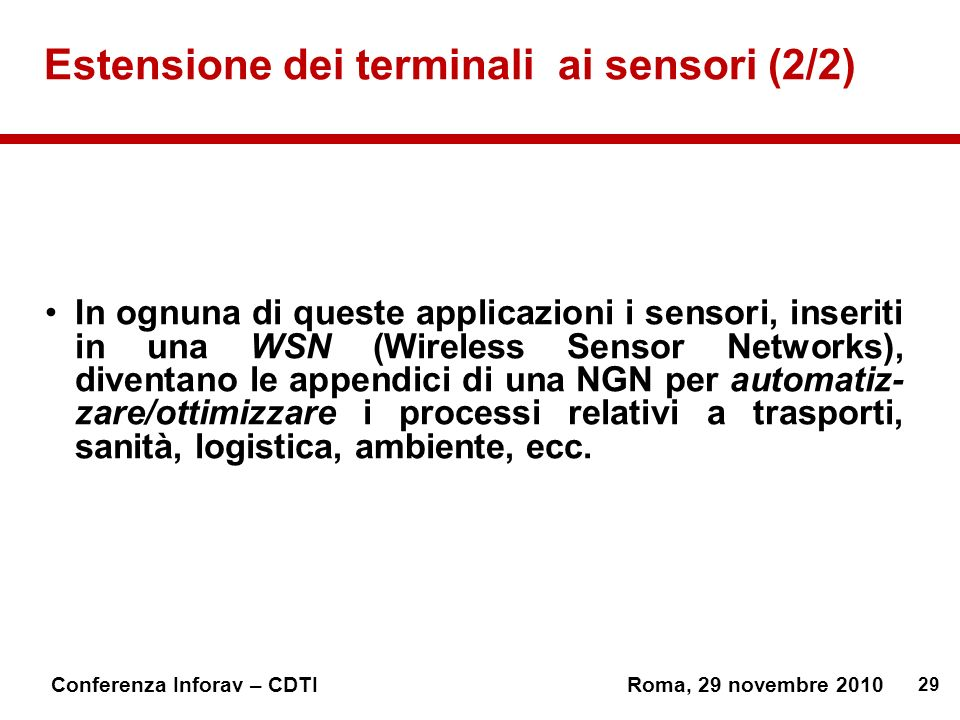 Estensione dei terminali ai sensori (2/2)