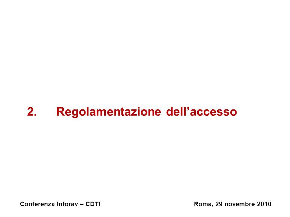 2. Regolamentazione dell'accesso