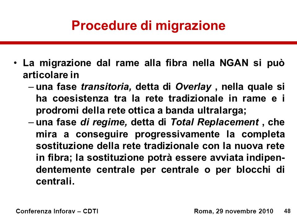 Procedure di migrazione