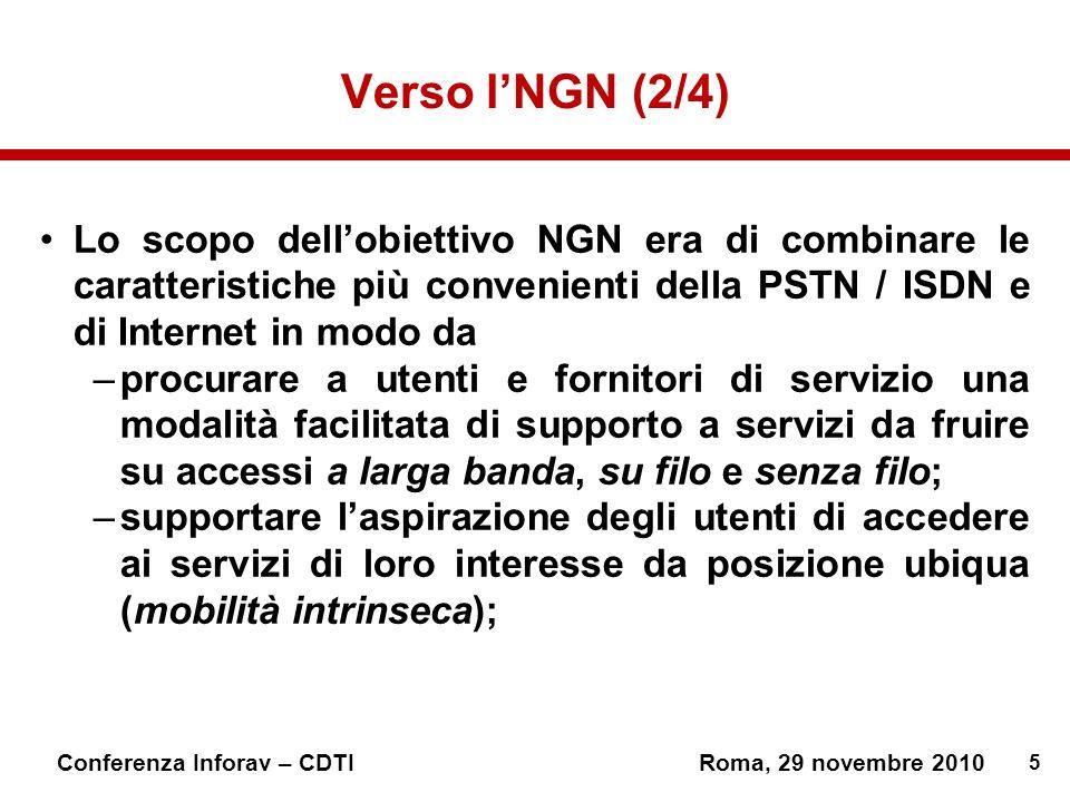 Verso l'NGN (2/4) Lo scopo dell'obiettivo NGN era di combinare le caratteristiche più convenienti della PSTN / ISDN e di Internet in modo da.